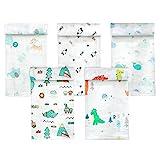 Koo-dib Bebe Recien Nacido,Mantas Envolventes muselina para bebés 80x80cm Toalla de baño para bebés de100% algodón absorbente y suave Paquete de 5 por Mantas Suaves de Lactancia Multiuso manta verano