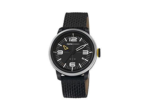 Momo Evo MD1014BS-12 - Reloj de hombre swiss made con correa de piel y caja de acero.