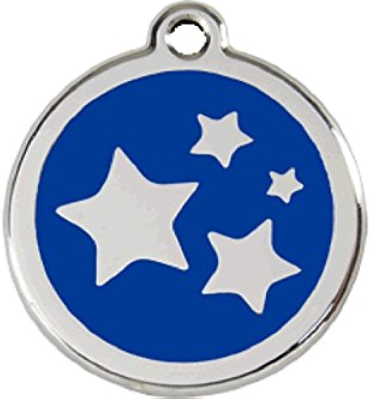 Red Dingo Star Enamel Dog Tag Navy bluee  Medium