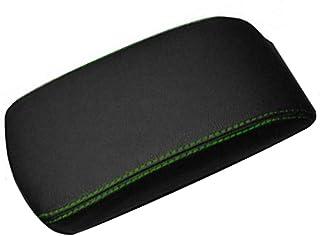 Aerzetix: Gobelin Armlehne Mittelkonsole Echtleder Nähte verschiedene Farben Grün