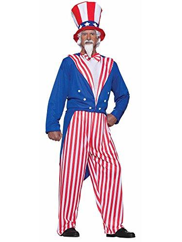 Forum Novelties Men's Uncle Sam Costume, Red/White/Blue, Plus