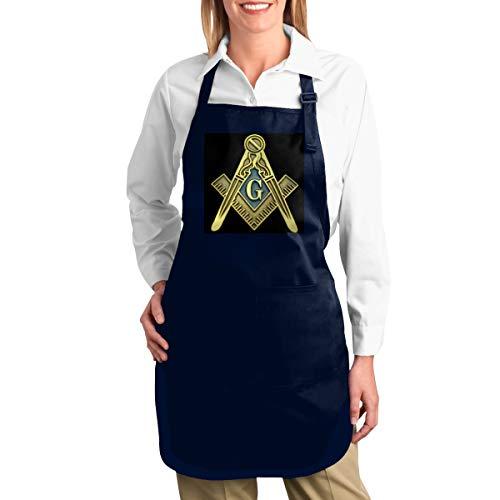 NULLIAHSGB Schürze, Freimaurer-Symbol, strapazierfähig, Segeltuch, Werkzeugtaschen, Rückengurte verstellbar