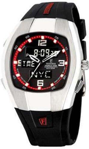 Reloj Festina World Time Digital y analógico para Hombre, con Correa de Silicona F6721/3.