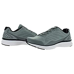 Fila Men's Memory Foam Athletic Running Shoes (12, Grey/Black)