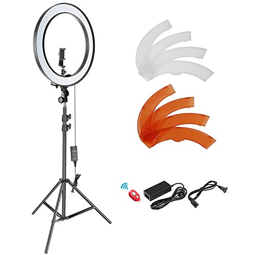 Neewer 18-inch Outer Dimmable SMD LED Ring Light Lighting Kit with 78.7 inches Light...