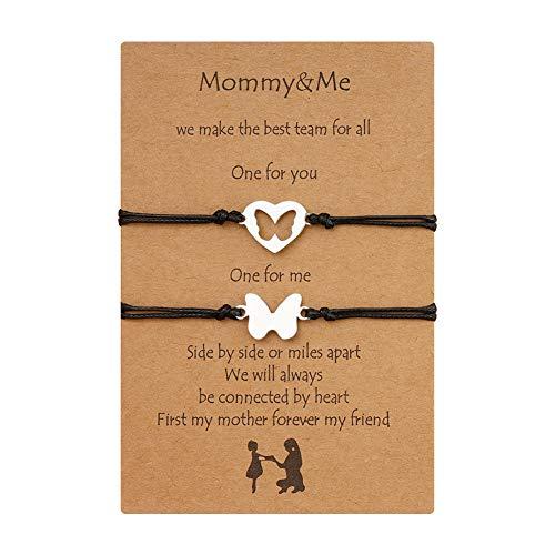 Pulsera para el amor, Amistad, mejor amiga, mamá, puntos, pulsera personalizada, 2 unidades, oro y plata