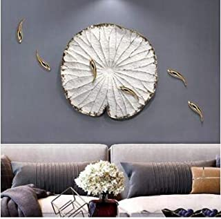 SIZOO - Wall Stickers - New Chinese Resin Fish Lotus Leaf Wall Pendant Home Livingroom Wall Mural Crafts Hotel Office 3D W...
