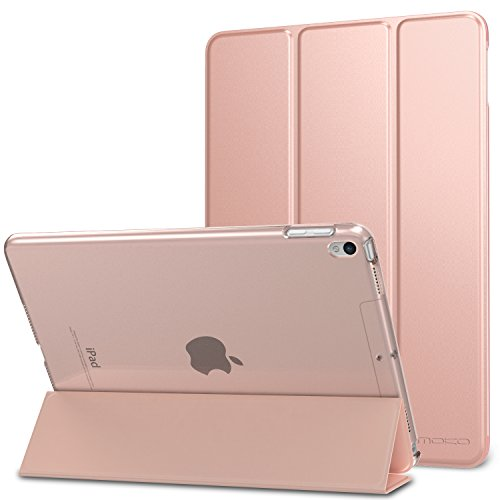 MoKo Case Fit New iPad Air 3 2019(3rd Generation 10.5 inch)/iPad Pro 10.5 2017 - Slim Lightweight Smart Shell Stand Cover with Translucent Frosted Back Protector - Rose GOLD (Auto Wake/Sleep)