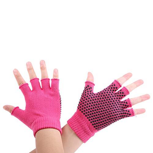 Shangai Handschuhe Winterhandschuhe Frauen Männer Yoga Fitness Handschuhe Gym Outdoor Reittraining Sport rutschfeste Fahrradhandschuhe,Pink