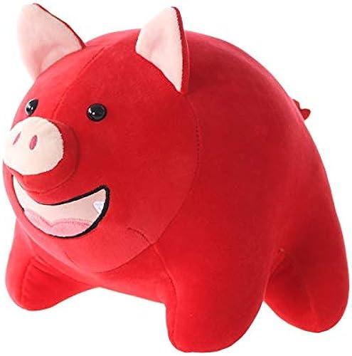 PANGDUDU Niedliches Rundes SchWeißPlüsch Spielzeug J liche Sitzung Neujahr Maskottchen Rot Pigman Puppe Kind Puppe Weißiche Geburtstagsgeschenk, Rot, 50cm