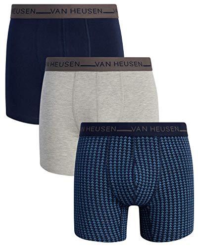 Van Heusen Herren Boxershorts aus Baumwolle, Stretch, 3 Stück - - X-Large