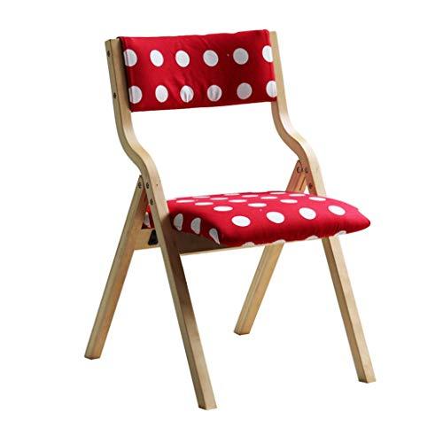ZSH Esszimmerstuhl, Folding Bürostuhl, Liegestuhl, Holzfüße Und Bequemen Gepolstertem Wohnsitzstuhl, 2 Farben (Color : A)