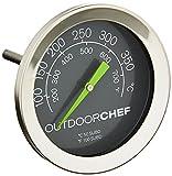 Outdoorchef Grillthermometer bis 400 °C | Deckelthermometer Klassisch mit extra großem Ziffernblatt