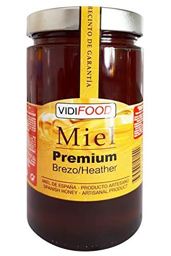 Miel de Brezo Premium - 1kg - Producida en España - Tradicional & 100{1032381fd6656192e618a1c27b8e07216c59b5969752f4f086e99e3e45c5095b} pura - Aroma Intenso y Sabor Dulce