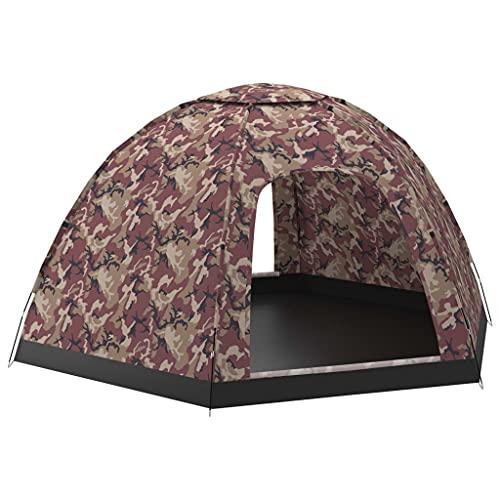 vidaXL Tienda de Campaña para 6 Personas Camping Carpa Senderismo Campamentos Festival Piramidal Impermeable Viaje Jardín Patio Exterior Multicolor