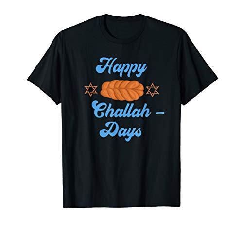 Chanukkah Happy Challah Days Zitat Jüdisches Brot Chanukah T-Shirt