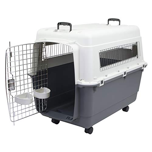 Chesapeake Bay Heavy-Duty Rolling Airline Pet Crate-X-Large, 18 x 10 x 1.5 inches, Gray