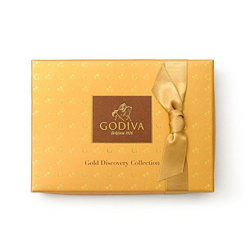 GODIVA Chocolatier Gold Discovery Assorted Gourmet Chocolate Gift Box, 6-piece gift box, Caramel, 1 Count