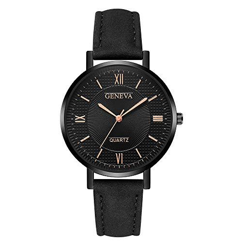 Msltely Ginebra Moda Mujeres Reloj Reloj de Cuero Simple Ladies Relojes Relojes Relojes Casual Muñeca Relogio Feminino Reloj Mujer (Color : AA)