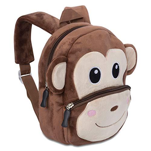Kinderrucksack für Kleinkinder Kindergarten Rucksack für Kinder Backpack Schultasche Tier-Rucksäcke 1-4 Jahre, Robust, Leichtgewichtig, Flauschig & ergonomische Träger (AFFE)