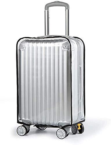 LECKYスーツケース カバー 防水 - キャリーケースカバー ラゲッジカバー クリア 透明 レインカバー 傷 汚れ 雨 保護 PVC 出張旅行適用(20インチ-30インチ,6サイズが選択できます) …