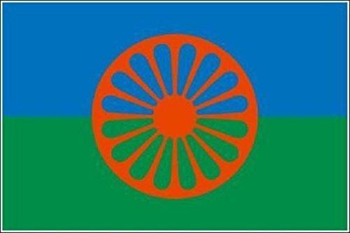 U24 Aufkleber Sinti und Roma Flagge Fahne 8 x 5 cm Autoaufkleber Sticker