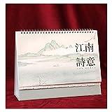 LDH Calendario da Tavolo 2021 Anno del Bue, Anno of The Year, Desk Calendar, Anni di Tranquillità, Calendario, Creativo Simple Plan Ufficio, Questo Notebook, Calendario 2021