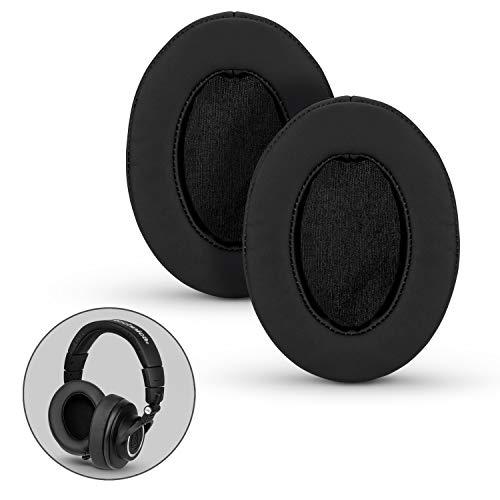 Brainwavz Reemplazo de Espuma de Memoria para Almohadillas de Auriculares para AKG, HifiMan, ATH, Philips, Fostex - Negro