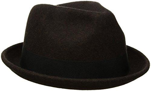 Goorin Bros. Men's Good Boy Wool Flip Up Fedora Hat, Coffee, X-Large