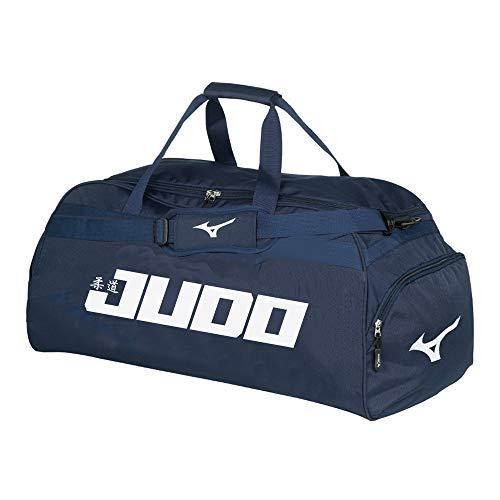 Bolsa de deporte con logotipo Holdall negro tama/ño medio Mizuno