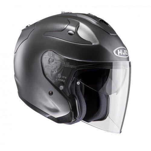 HJC Casque Moto Fg-Jet Titanium, Noir/Blanc, Taille XL