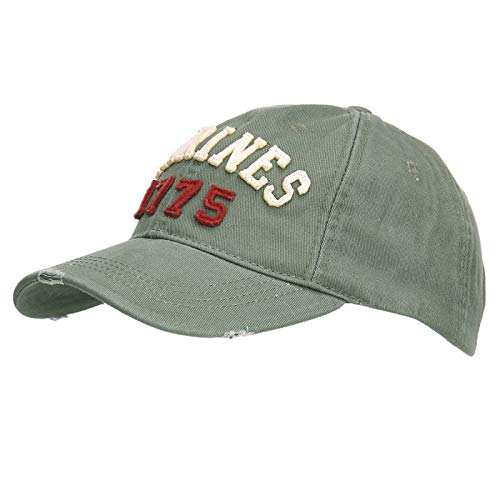 AlxShop - Casquette Stone Washed Marines 1775 - Couleur : Green