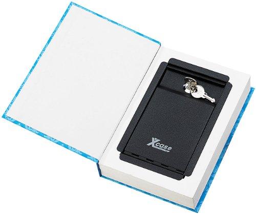 Xcase Tresor Buch: Buch-Safe, getarnt als Buch, ECHTES Papier, 22 x 15,5 cm (Kinder Tresor)