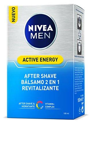 NIVEA MEN Active Energy 2in1 revitalisierend (1 x 100 ml) After Shave Balsam für die Gesichtspflege, feuchtigkeitsspendender Balsam