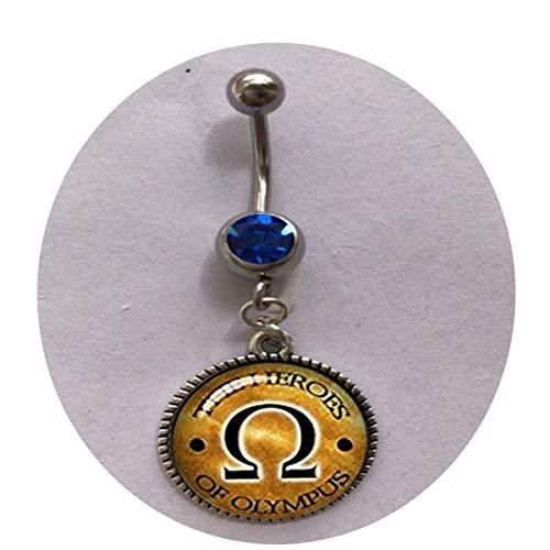 Collier Percy Jackson inspiré de Percy Jackson Héros bijoux oméga signe collier foudre voleur cadeau héros d'olympique bague de nombril cadeau tous les jours