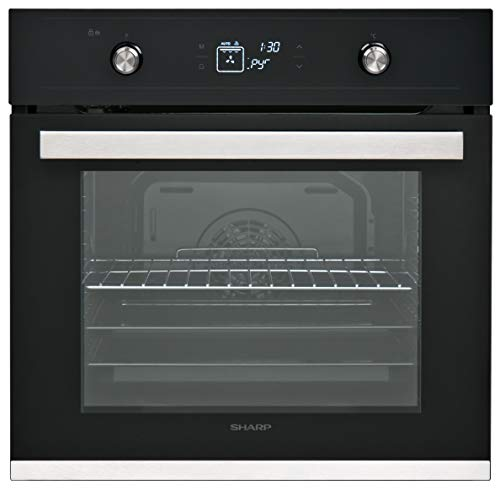 Sharp K-61V28BM1-EN Pyrolytic Multi-function Oven, 8 functions, Self...