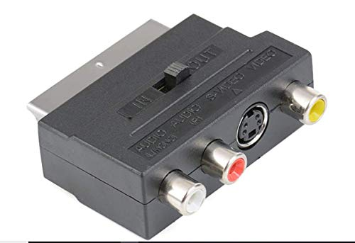 Adaptador Peritel SVHS 4-Pin S-Video RCA Interruptor TV-in TV- out entierement Cable 21Pines Playstation Xbox TV Video