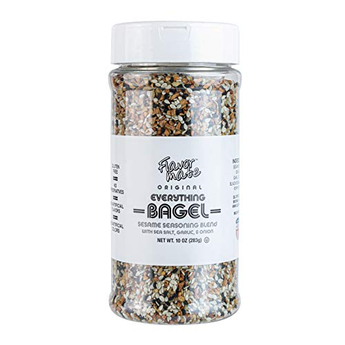 Flavor Mate Original Everything Bagel Seasoning 10 OZ XL Shaker Jar Blend Of Sesame Seeds Sea Salt Garlic Onion Black Sesame