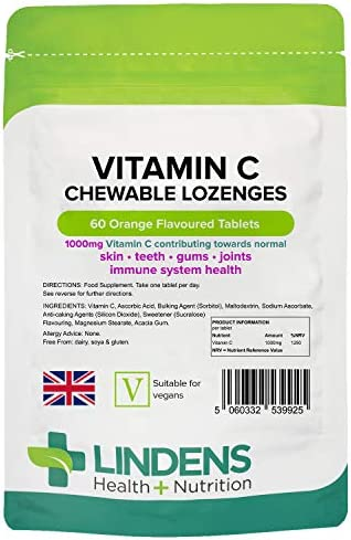 Lindens Vitamin C+ 1000mg - 120 Tablets - Time Release Tablets with Citrus Bioflavonoids and Rosehip - Contributes to Immune System Health, Reduces Tiredness and Supports Healthy Skin and Teeth