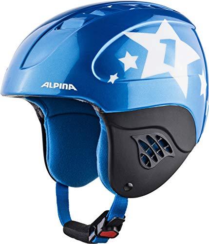 ALPINA CARAT Skihelm, Kinder, blue-star, 48-52