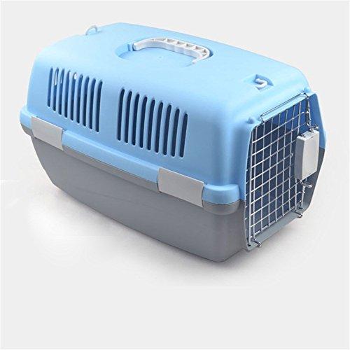 Pet Online La aerolínea del portador del animal doméstico aprobó la maleta respirable al aire libre de los animales pequeños y medianos, S: 43 * 30 * 27cm, azul