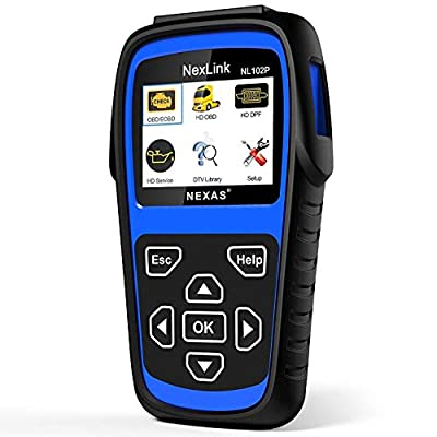 Heavy Duty Truck Scan Tool NL102 Plus Auto Scanner with DPF/Sensor Calibration/Oil Reset + Check Engine for Cars; Truck & Car 2 in 1 Code Reader (Upgrade Version) from NEXAS