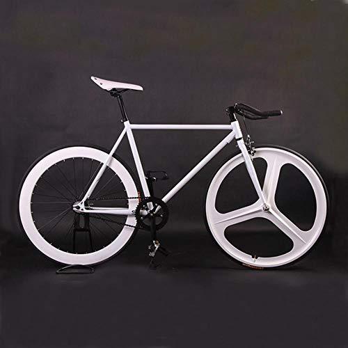 RUPO Gear Bike 48 cm 52 cmStahlrahmen Rahmen Radfahren Rennrad Magnesium LeichtmetallradEinzelstraße, weiß2,48 cm (165 cm-170 cm)