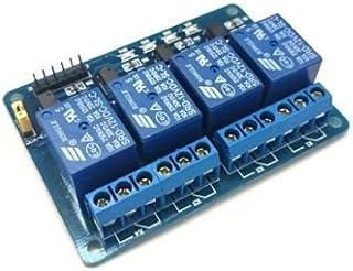 Modulo scheda a 4 relè relay canali optoisolati 250V 10A 5Vdc 5V (arduino-compatibile) shield