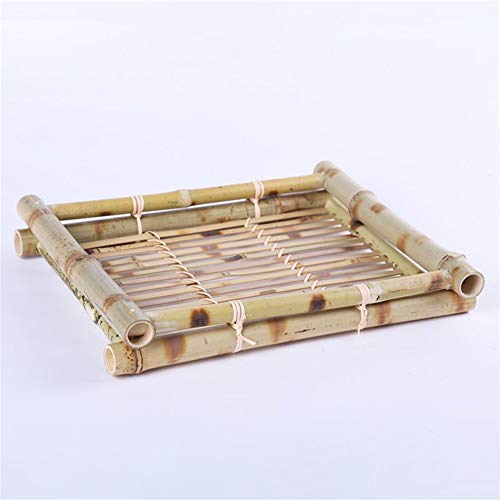 WBFN Schotel plaat, Rectangle Bamboo schotel plaat Theepot GroentenFruit broodsnack Coffee Cup Holder-opslag Hotel tafeldecoratie (Plate Size : 29x22cm)