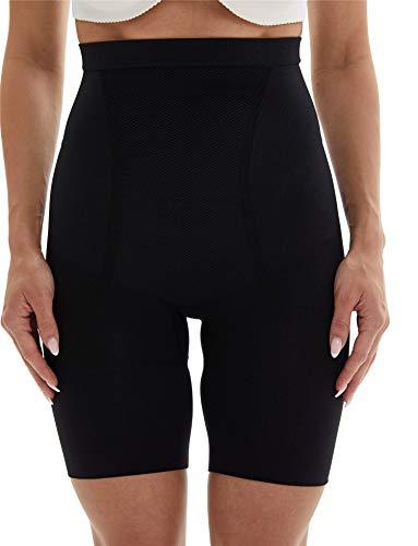 Franato Women's Hi-Waist Shapewear Slim Tummy Control Mid Thigh Short Panties Body Shaper Black