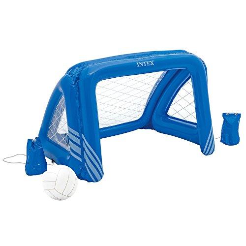 Intex- Porta Pallanuoto 140X89X81 Gioco, Colore Blu, 140 x 89 x 81 cm, 58507NP