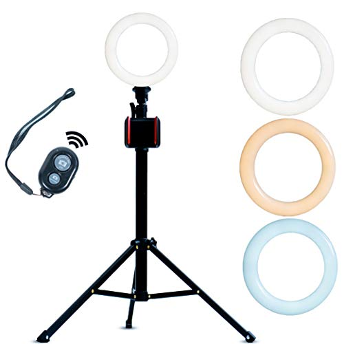 Pluto Selfie Light - Ring Light with Stand - Cell Phone Tripod Stand - Selfie Stick - Cell Phone Stand - Vlogging Camera Tripod - Selfie Ring Light with Stand and Phone Holder - TIK Tok Stuff