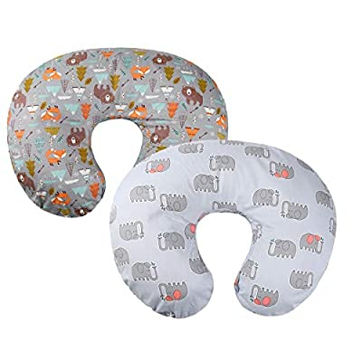 Amazon - 50% Off on Grey Nursing Pillow Cover Set 2 Pack 100% Cotton Slipcovers for Breastfeeding Moms Baby Girl Boy