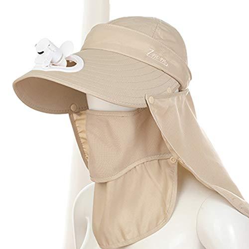 KHXJYC Sombrero para El Sol para Adultos, Gorro De Malla para Exteriores con Ventilador, Sombrero para El Sol Grande Recargable para Tierras De Cultivo con Aleros,#2